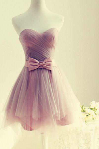 Cute mini prom dress,charming homecoming dress,sweetheart tulle evening gowns