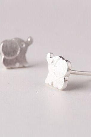 Small animal stud earrings, baby elephant earrings, lovely earrings