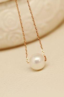 Short necklace for girls, clavicle necklace, fashion pearl necklace